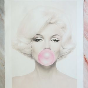 Other - Monroe Bubblegum Pop Art Canvas Print